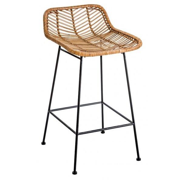 כסא בר ראטן וויקר טבעי