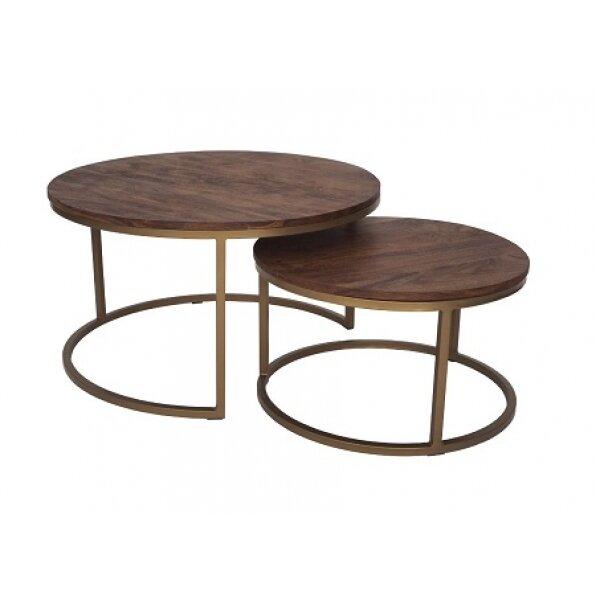 סט 2 שולחן קפה אקסייה