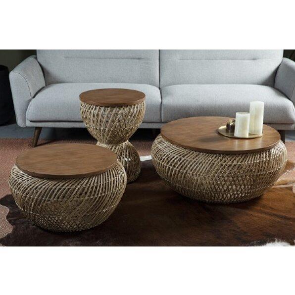 שולחן קפה פול ראטן (2 מידות)