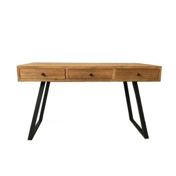 שולחן עבודה עץ ברזל טבעי