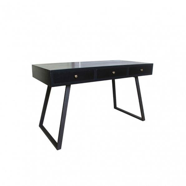 שולחן עבודה עץ ברזל שחור