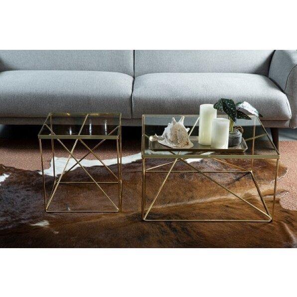 שולחן צד מרובע גאומטרי