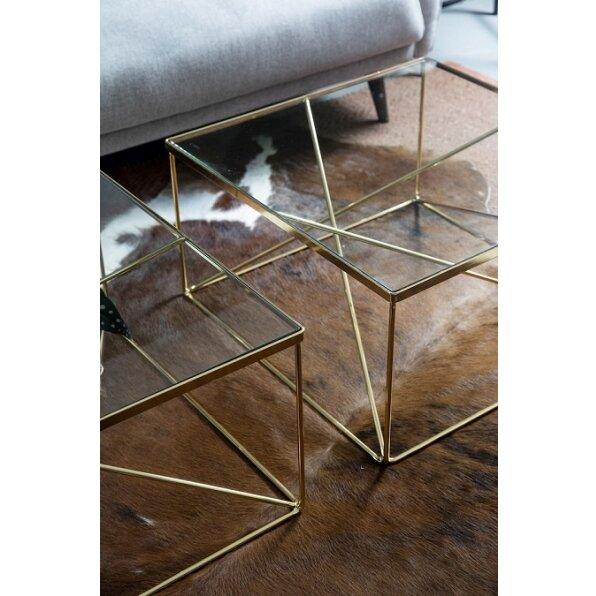 שולחן קפה מרובע גאומטרי
