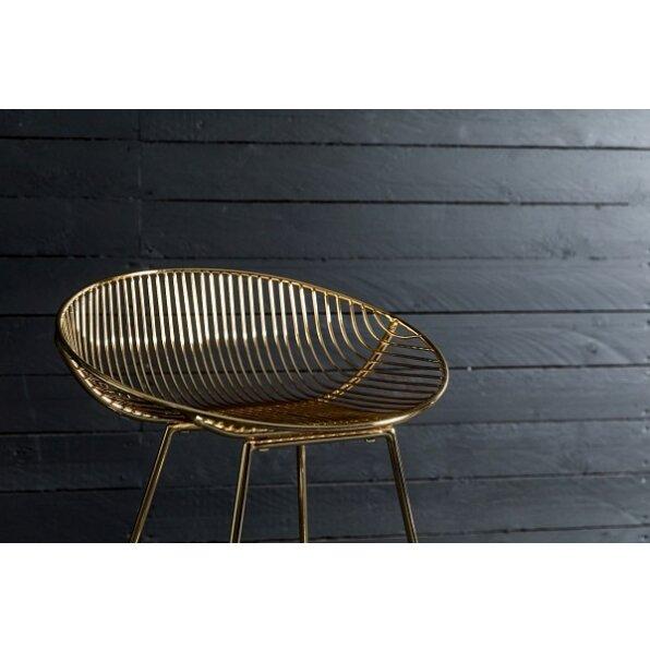 כסא בר מתכת אנאבל זהב