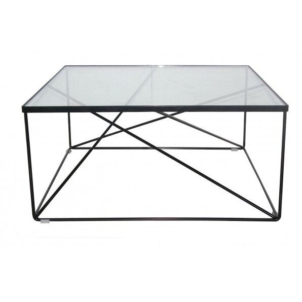 שולחן קפה מרובע פסים