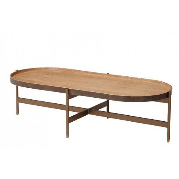 שולחן קפה ליבנה אוול ענתיק