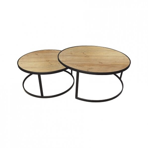 סט 2 שולחן קפה וונדי עץ אורן
