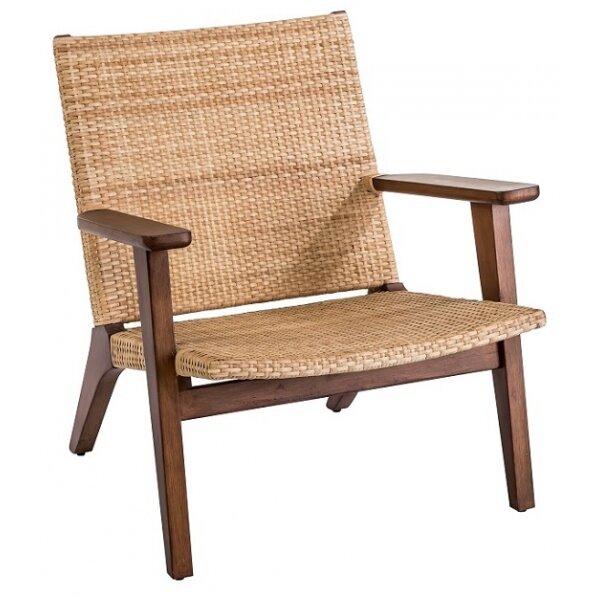 כורסא ראטן ידית עץ אלסקה