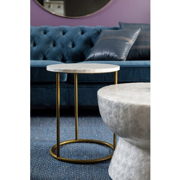 שולחן צד צדף (רגל שחורה/זהב)