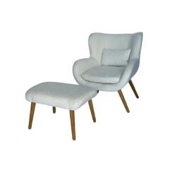 כורסא מאיה הדום בוקלה לבן