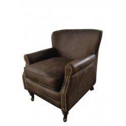 כורסא עור וינטג' 701 חום