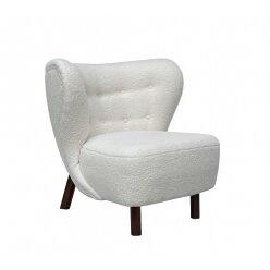 כורסא רובינס בד טדי לבן