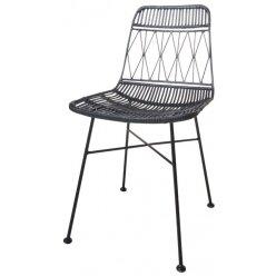 כסא אוכל ראטן ווטארו מעויינים שחור