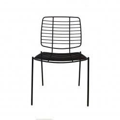 כסא ברזל פסים שחור