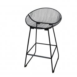 כסא בר מתכת שחור