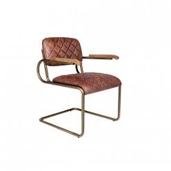 כסא עור בראס