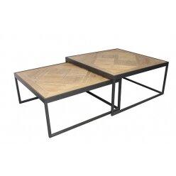 סט שולחן קפה מרובע קארן מידה 73.73.33. 80.80.38  5010599688