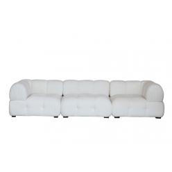 ספה דקסטר 318 בוקלה לבן