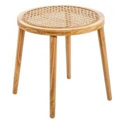שולחן צד ראטן טבעי