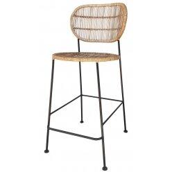 1210213076  כסא בר דניס ראטן טבעי