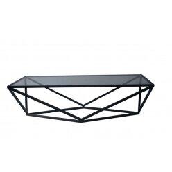 1210580601 - שולחן קפה יהלום מלבן שחור מידה 140.65