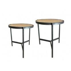5010598605 שולחן קפה ראטן פרדי סט 2 מידה 40.49 ו 45.56