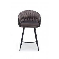 5010698306555 - כסא בר מילה קטיפה אפור 55 מידה 50.37.94