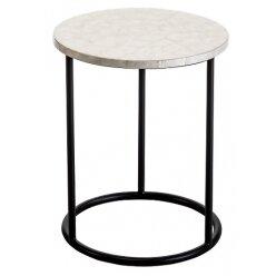5010730195 - שולחן צד צדף רגל שחור 40.50