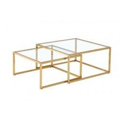 50107613221 - סט 2 שולחן קפה טיילור בראס מרובע